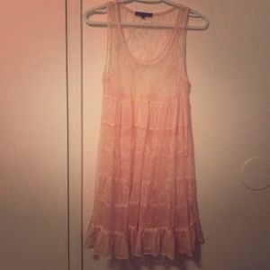 Sheer lace dress size L